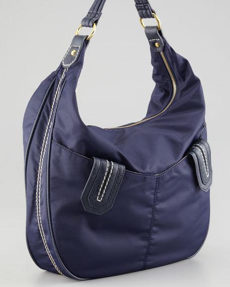 Lissie Nylon Hobo Bag, Navy
