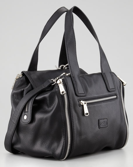 Ryder Crossbody Satchel, Black