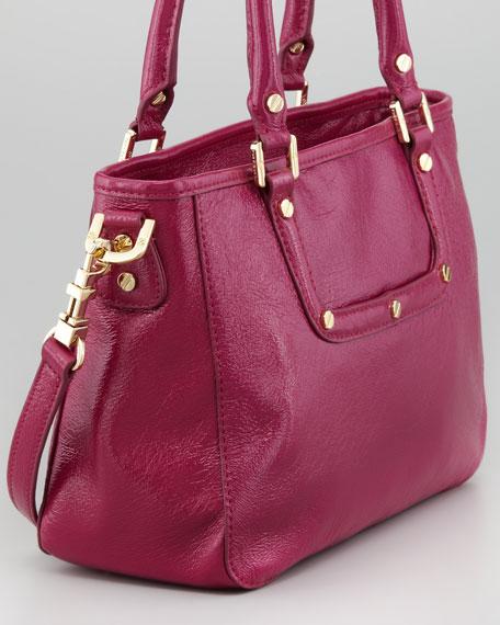 Amanda Mini Satchel Bag, Royal Fuchsia