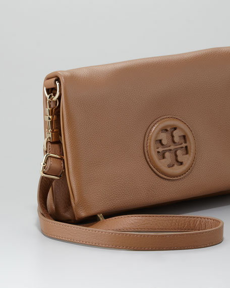 Hannah Fold-Over Clutch Bag, Sand