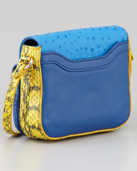 Monique Phone-Pocket Crossbody Bag, Blue