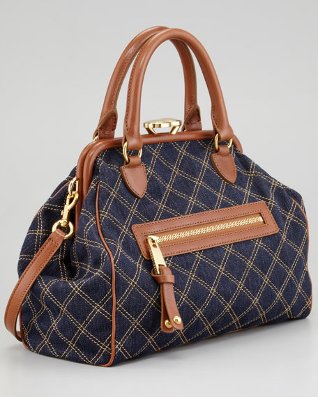 Mini Stam Denim Satchel Bag