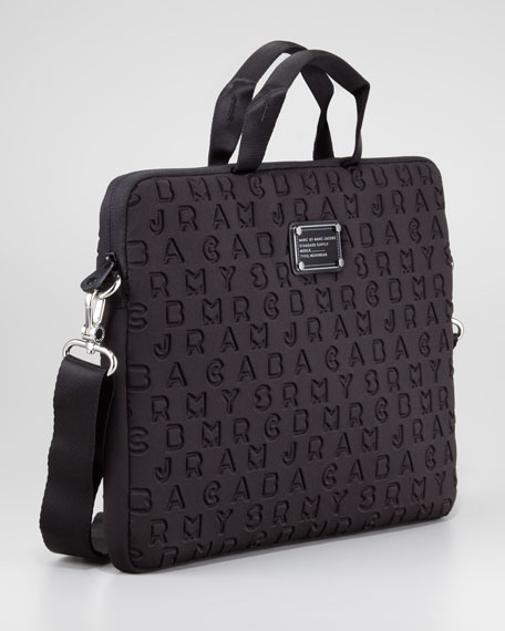 "Dreamy Logo Neoprene Commuter 15"" Laptop Bag, Black"