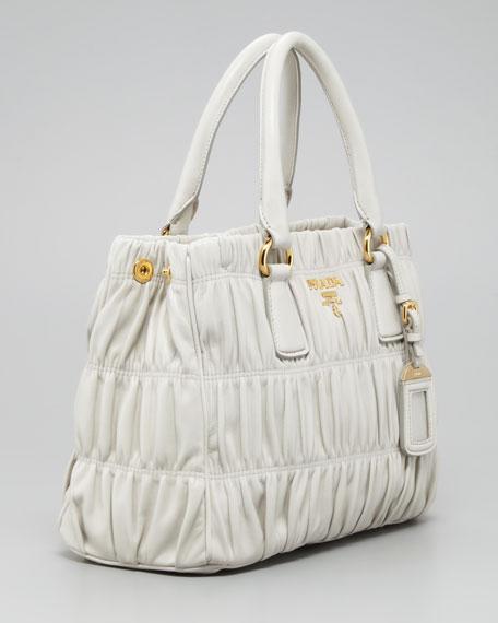 Napa Gaufre Tote Bag, Off White