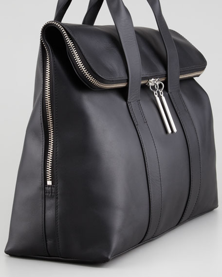 31-Hour Fold-Over Tote Bag, Black