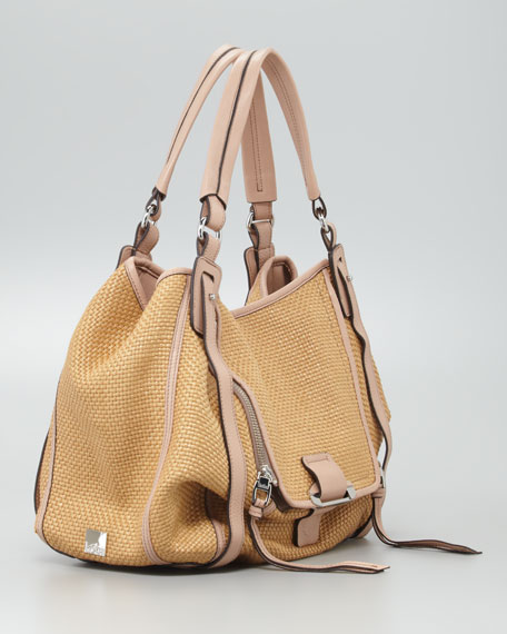 Jonnie Raffia Hobo Bag