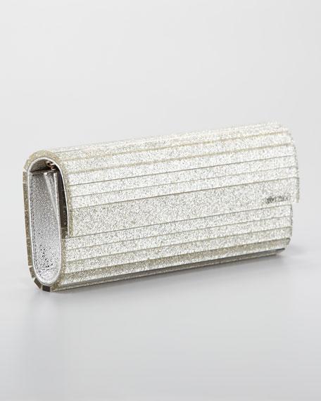 Sweetie Acrylic Glitter Clutch Bag