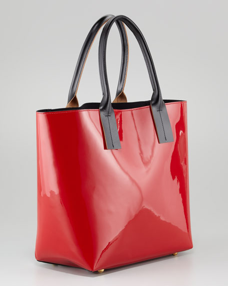 Colorblock Medium Shopper, Red/Blue