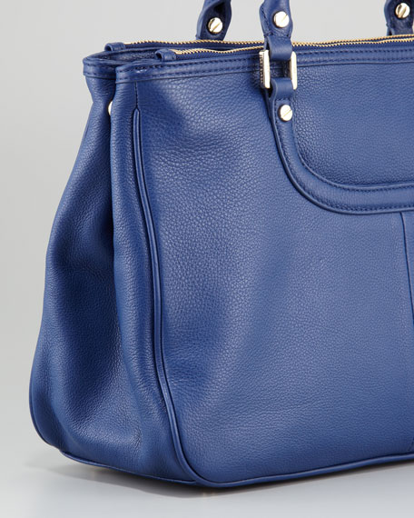 Amanda Double-Zip Tote Bag, Indigo