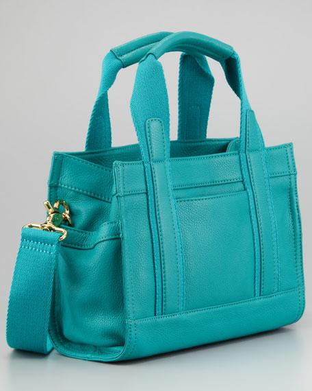 Tiny Tory Tote Bag, Turquoise