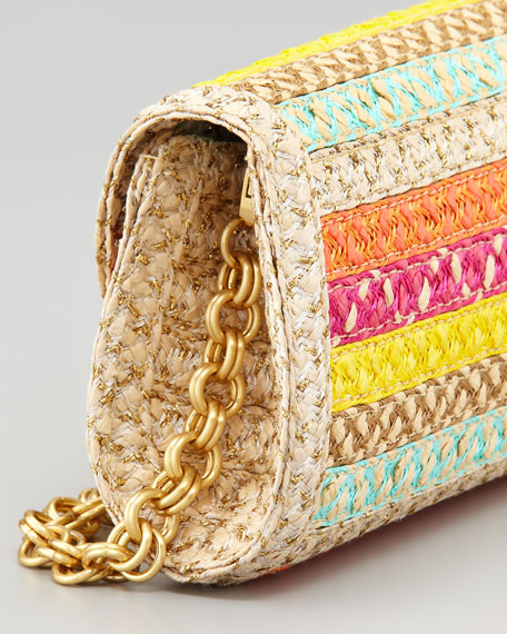 Paradise Woven Clutch, Tropic
