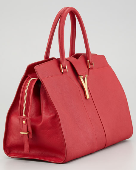 Y Ligne Medium Tote Bag, Rouge