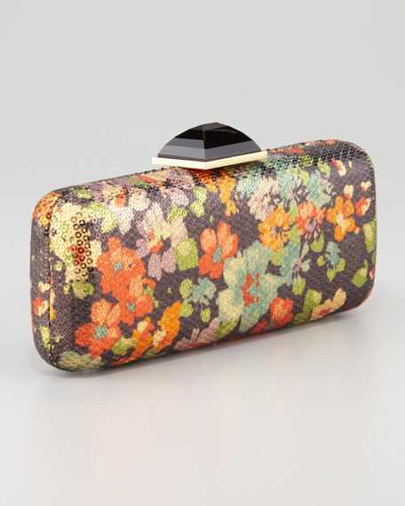 Jessica Floral Sequined Minaudiere