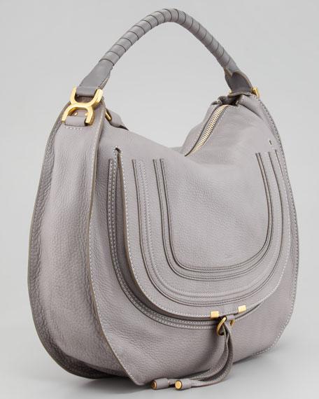 Marcie Large Hobo Bag, Gray
