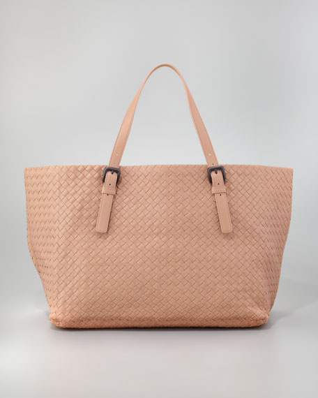 Large Double-Strap A-Shape Tote Bag, Light Camel
