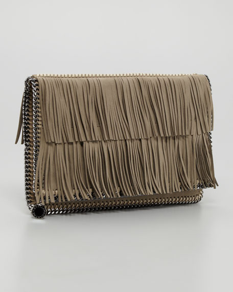 Falabella Fold-Over Clutch Bag, Taupe