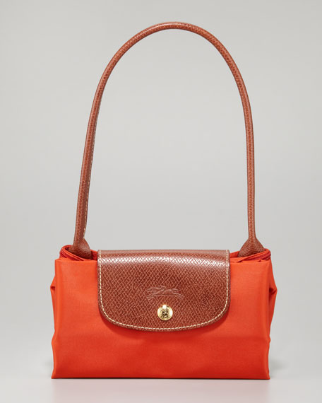 Le Pliage Small Shoulder Tote Bag, Paprika