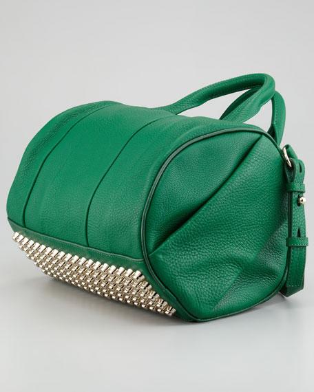 Rocco Stud-Bottom Duffel Bag, Green