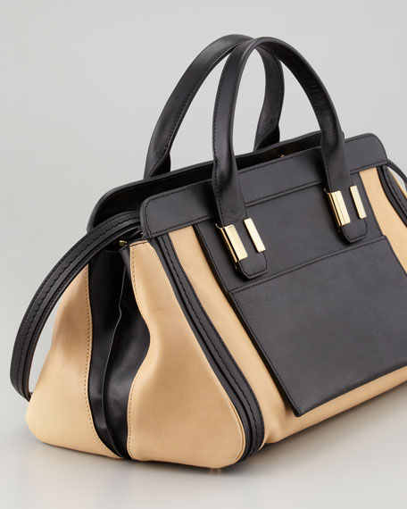Alice Medium Satchel Bag, Ginger
