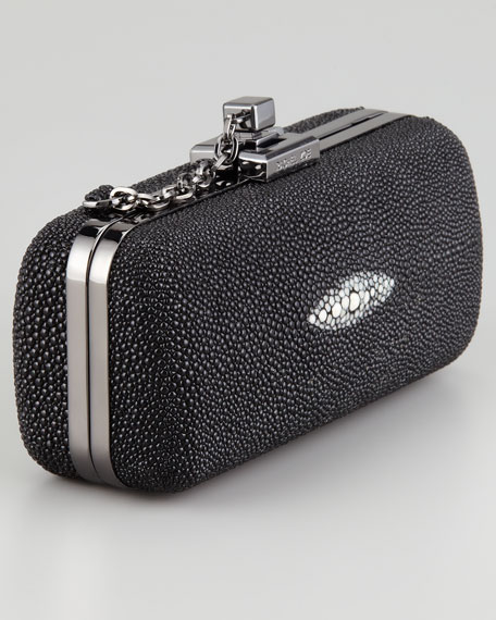 Margaux Minaudiere Clutch Bag, Black