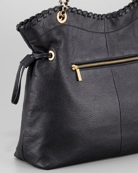 Marion Chain-Strap Tote Bag, Black