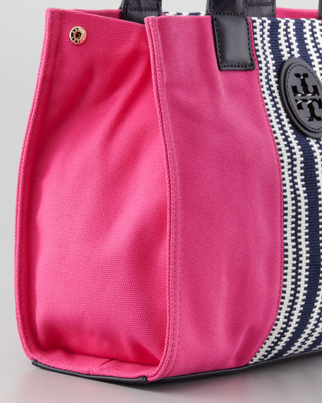 Mini Ella Striped Tote Bag, Pink
