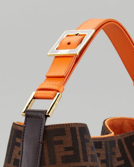 Zucca Large Hobo Bag, Brown/Orange