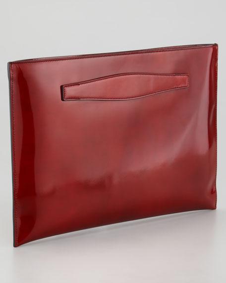 Glossy Flat Clutch Bag