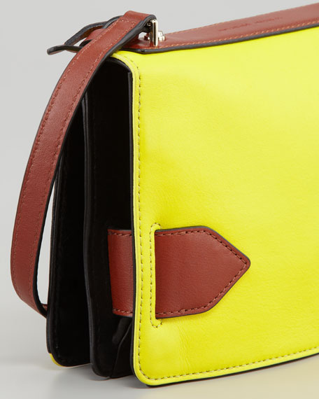 Mini Crossbody Bag, Yellow/Black