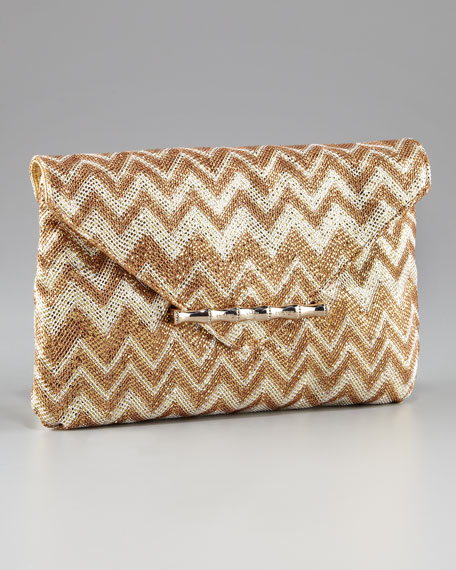 Bella Metallic Flap Clutch