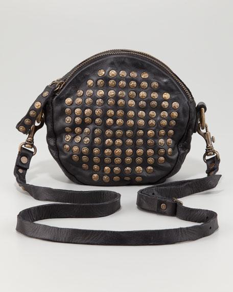 Brooke Studded Round Crossbody Bag