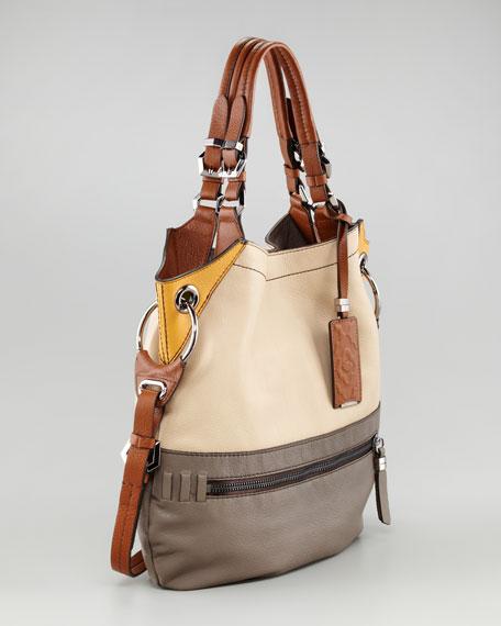 Sydney Colorblock Shoulder Bag, Large