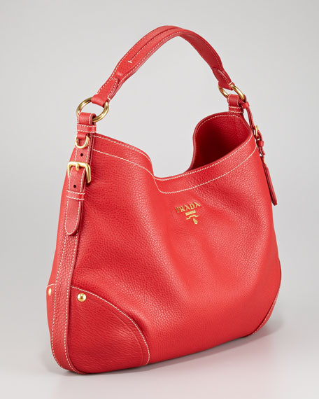 Daino Leather Hobo Bag