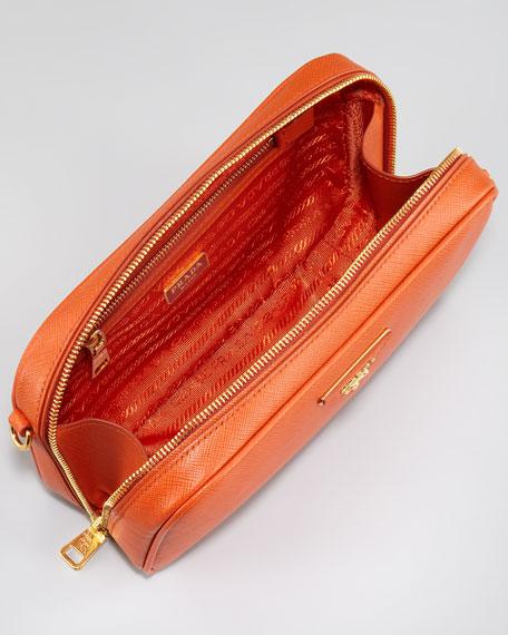 Saffiano Crossbody Bag, Small