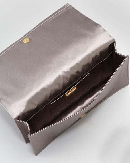 Satin Flap Clutch Bag