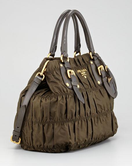Tessuto Gaufre Tote Bag, Olive