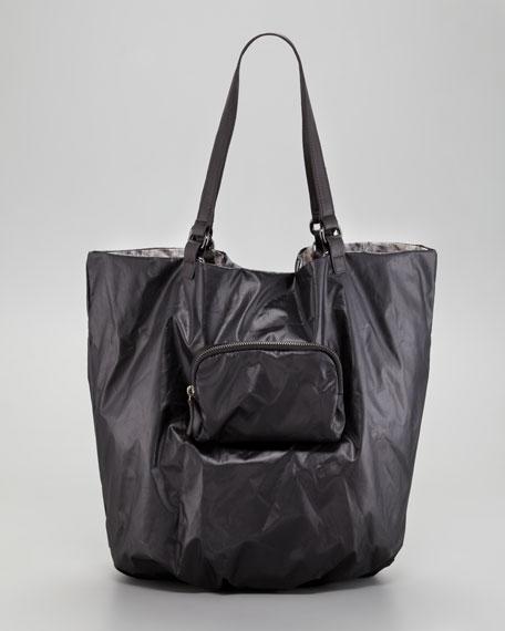 Audra Reversible Python-Print Tote Bag