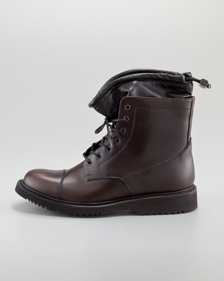 Leather Cap-Toe Boot