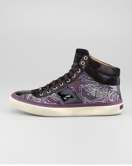 Belgravia High-Top Paisley Print Sneaker