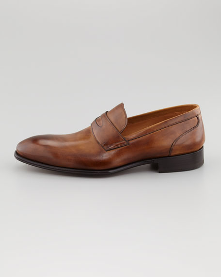 Almond Toe Penny Loafer, Brown