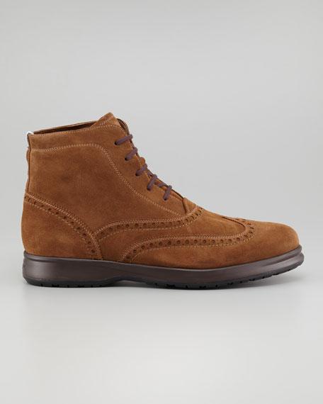 Ranger Suede Wing-Tip Boot