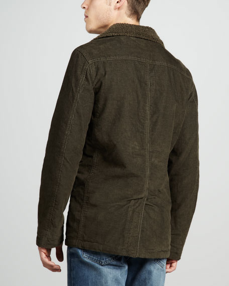 Sherpa-Lined Corduroy Jacket