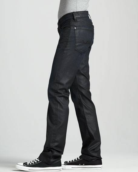 Slimmy Coated Black Jeans