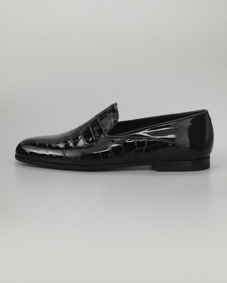 Stamped Crocodile Formal Slipper