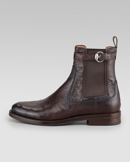 Ostrich Buckle Boot