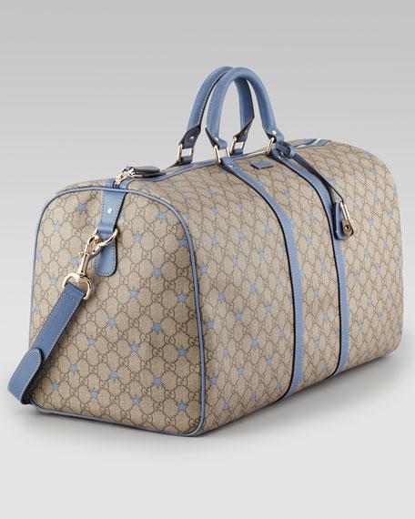 GG Stars Large Duffel Bag, Beige