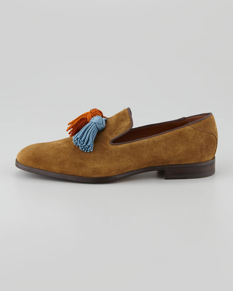 Foxley Suede Tassel Loafer, Brown