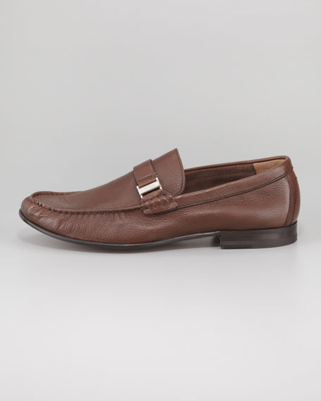 Didi Grained Deerskin Moccasin, Brown