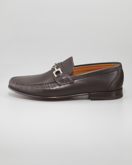 Tesor Logo-Bit Leather Moccasin