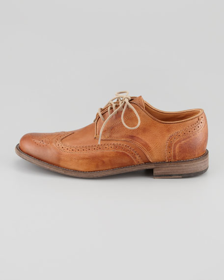 Warren Vintage Brogue Wing-Tip Shoe